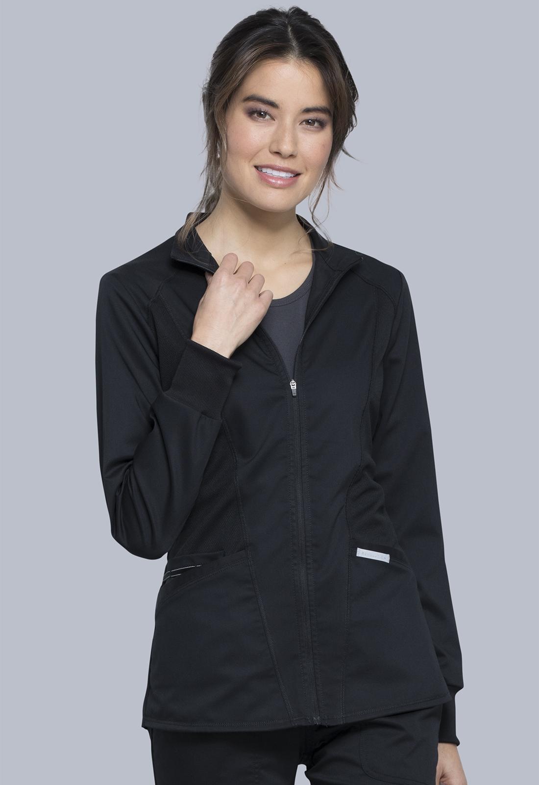 Zip Front Hi-Low Jacket