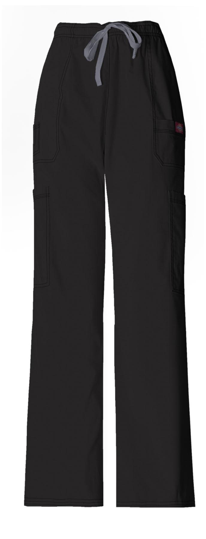 Dickies Men's Drawstring Cargo Pant -> Color: Black-> Size: XL -> 52%Cotton 45%Poly 3%Spandex