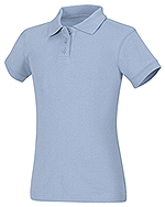 58582-LTB girls fitted polo