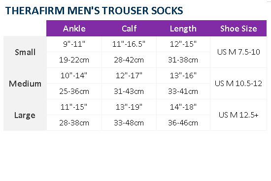 SOCKS 20-30 mmHg Mens Trouser Sock